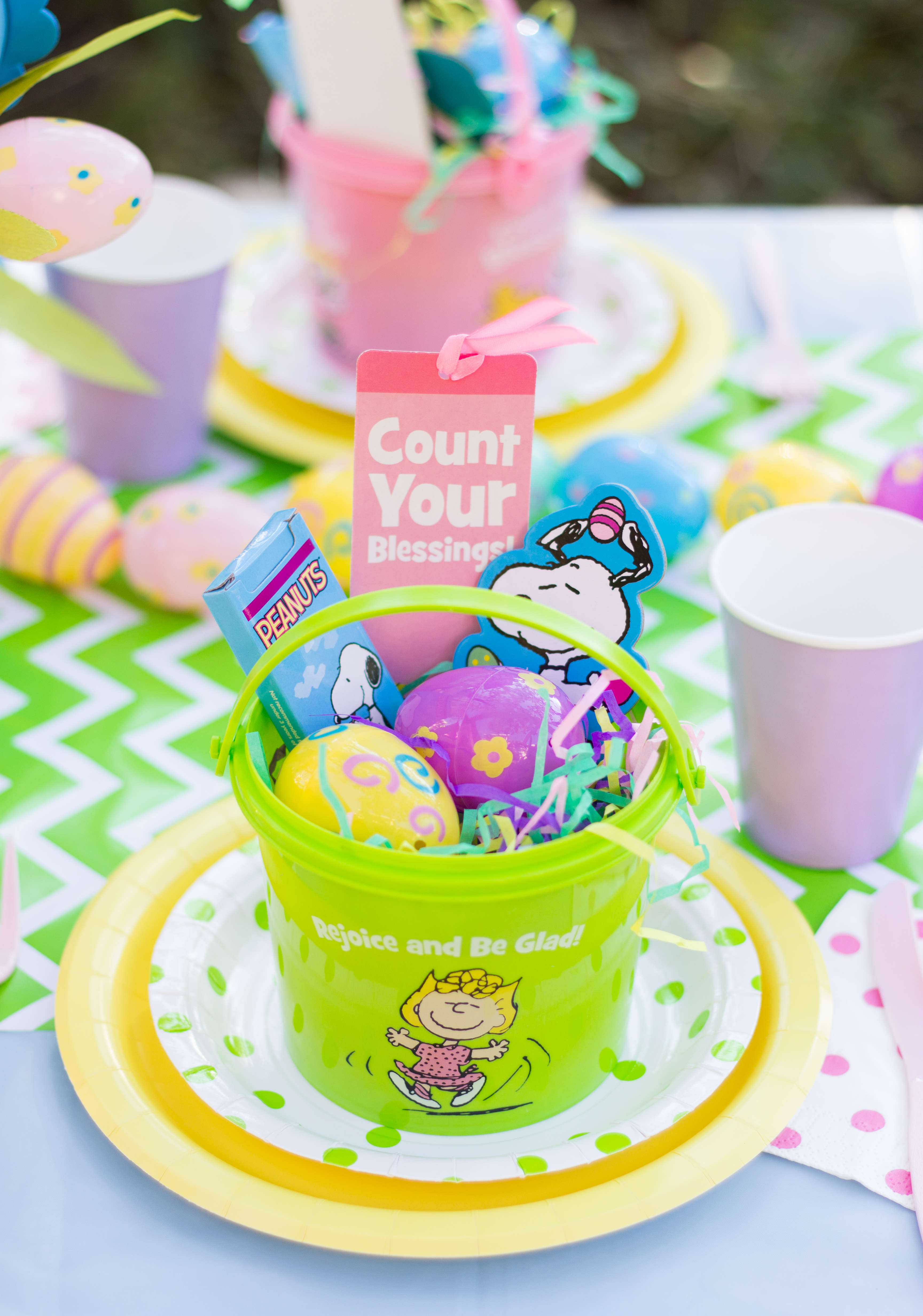 charming peanuts easter party
