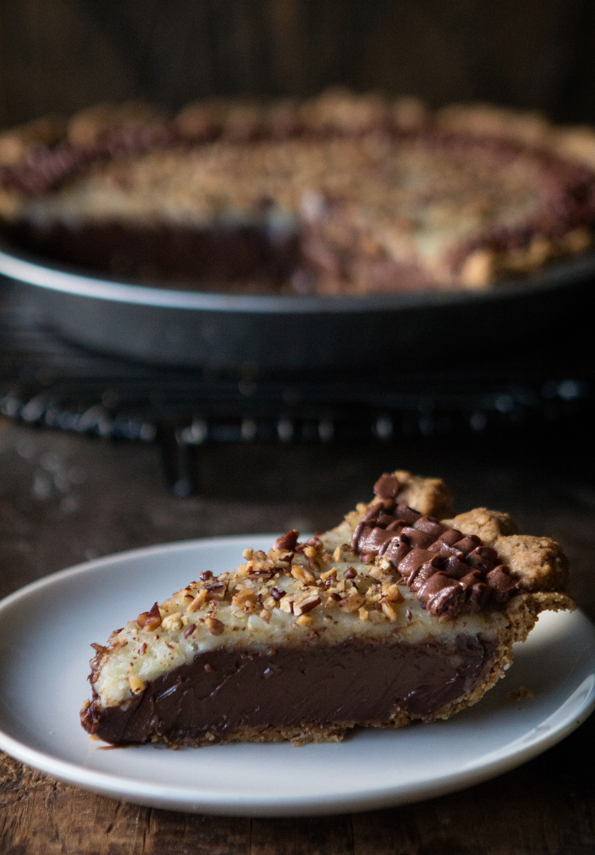 ... German chocolate pie as the cousin to the traditional German chocolate